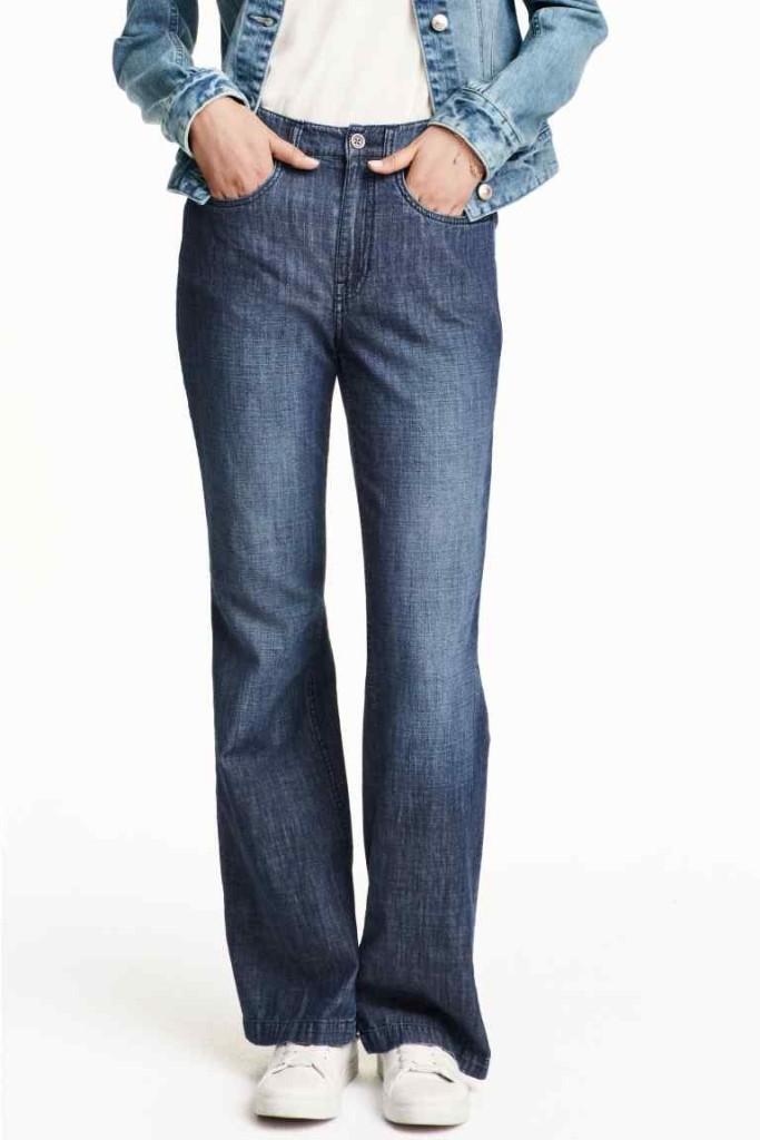 Ideali per le magre, i jeans a vita alta morbidi di H&M