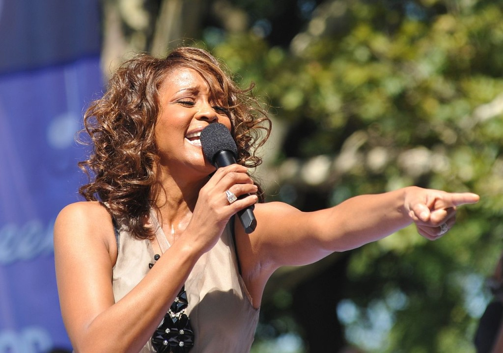 Whitney Houston in un'immagine recente.