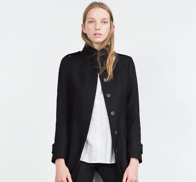 Zara, cappotto a collo alto