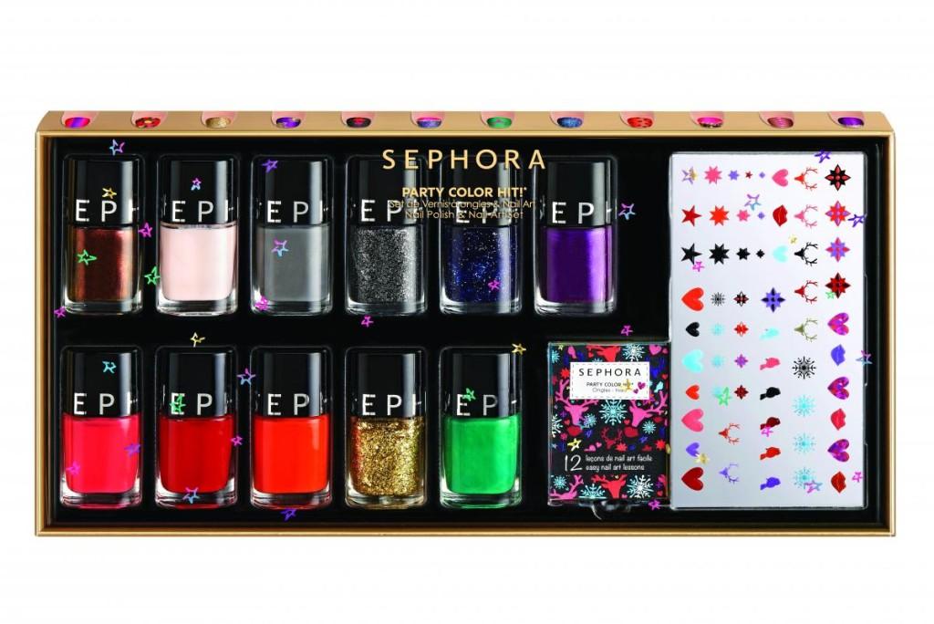 Sephora_ Kit nail art con smalti, glitter e applicazioni adesive