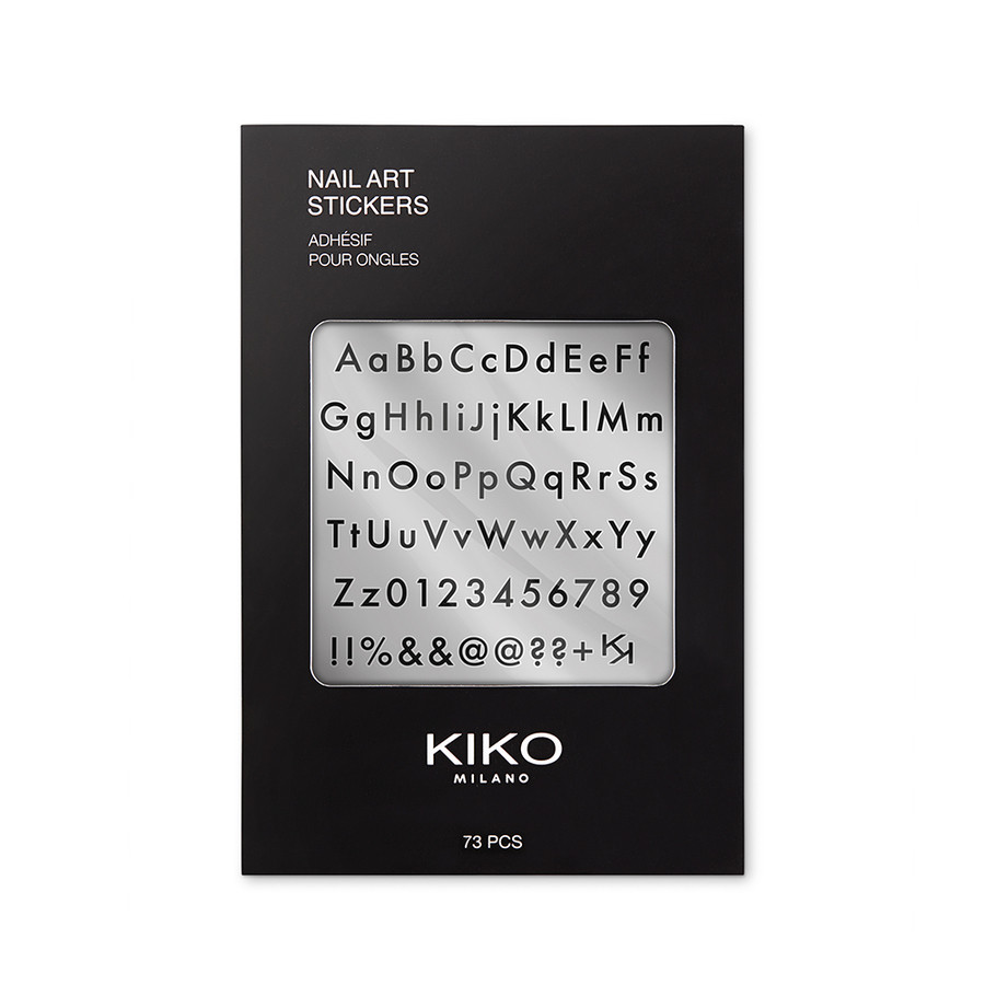 Kiko_Nail Art Stickers a forma di lettere da applicare sopra l'unghia
