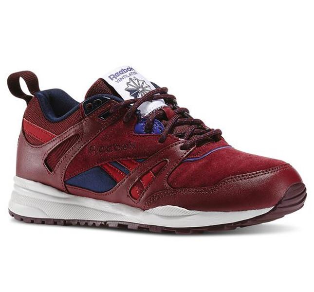 Reebok sneakers rosse con dettagli in pelle