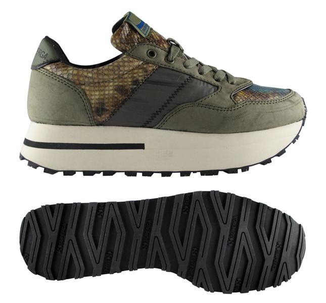 Superga sneakers verde militare