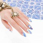 Esempio di nail art con decorazione di Estrosa