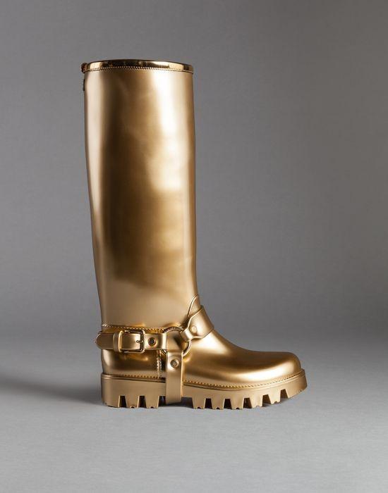Dolce e Gabbana stivale gomma oro