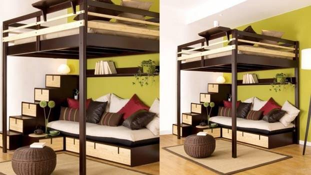 Il letto con soppalco soluzione salvaspazio unadonna - Letto a soppalco matrimoniale ...