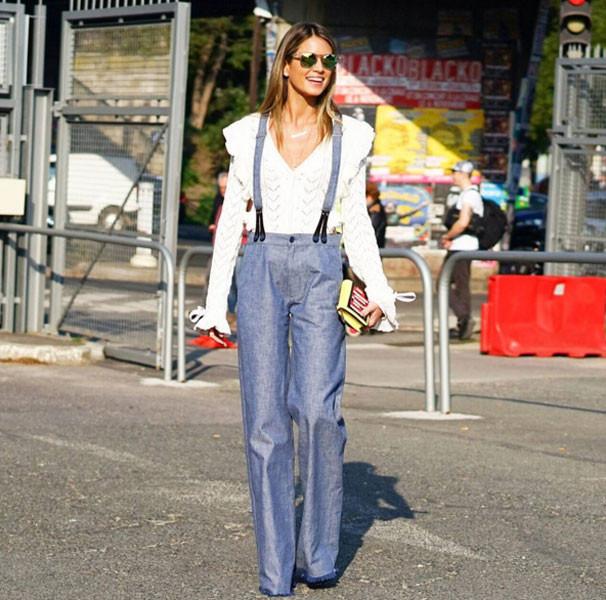 Salopette in jeans stile sofisticato