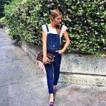 Salopette di jeans stile elegante