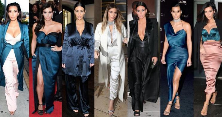 I look Kim Kardashian in satin