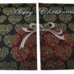 Cuore natalizio coppia di tappetini taglio vivo - Casa Tessile