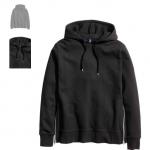 Felpa con cappuccio e cerniere, colore nero - H&M