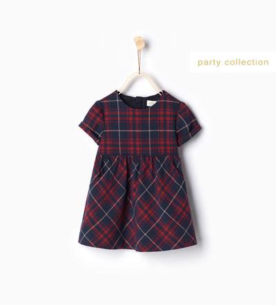 Vestito a quadri - Zara Kids