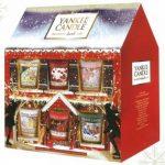 Set natalizio delle famose candele Yankee Candles, che propone diverse profumazioni.