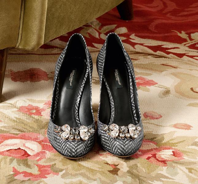 Dolce&Gabbana décolleté con inserti gioiello