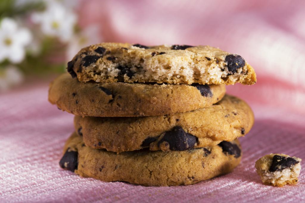 Biscotti senza glutine con pepite di cioccolato