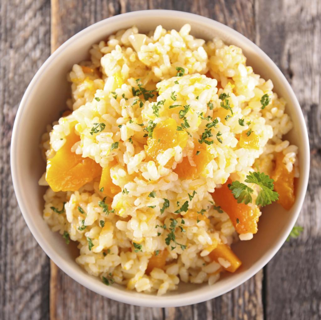 Risotto alla zucca e carote col Bimby: un piatto gustosissimo e veloce.