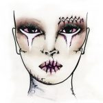Face Chart tipo Zombie di Make Up For Ever