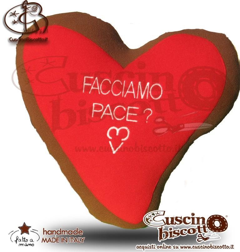 CuscinoBiscotto - Amore Puro vers. Red - con Dedica