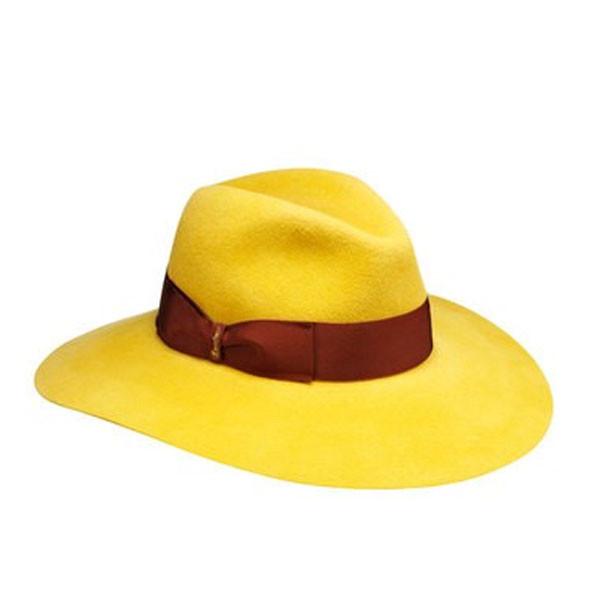 ... Borsalino cappello Sophie con ala larga giallo ocra e ruggine (221  euro) ... dfcecf173468