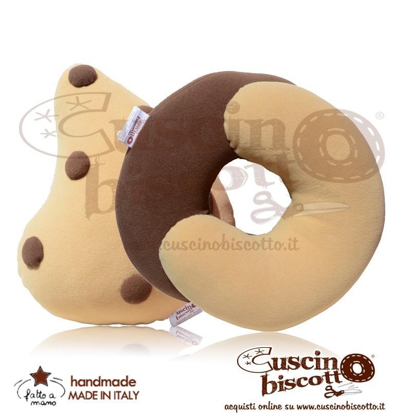 Cuscino Biscotto Bundle  - Dolce contatto + Lacrima di cioccolato (fatto a mano in Italia)
