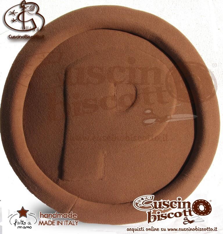 CuscinoBiscotto - Pasticcione vers. 3 - Marrone/ beige - (fatto a mano in Italia)
