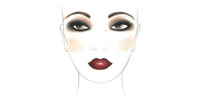 Face Chart trucco smokey Make Up For Ever