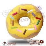 CuscinoBiscotto - Ciambella glassata /Donuts giallo - (fatto a mano in Italia)