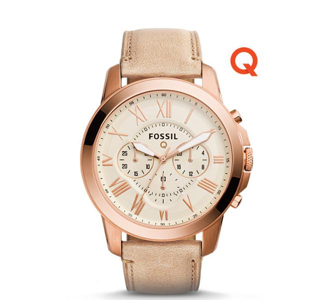 Fossil orologio da uomo linea Q Grant Chronograph Sand Leather Smartswatch