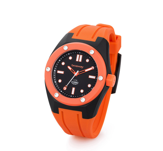Brosway orologio modello Icaro arancione e nero