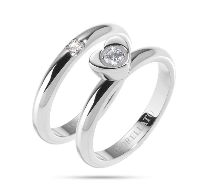 Morellato Love Rings in acciaio e cristalli
