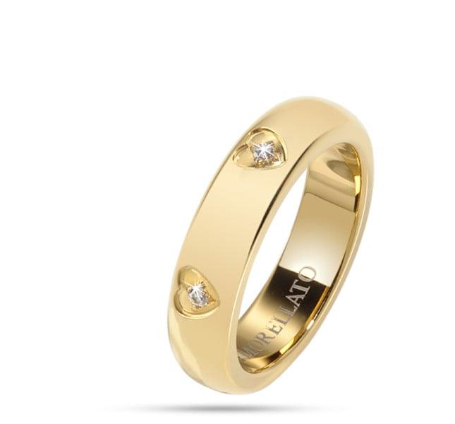 Morellato Love Rings in pvd oro e cristalli