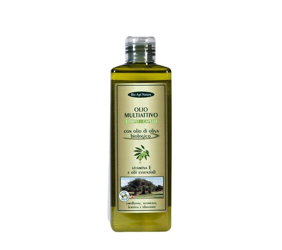 Olio multiattivo per corpo e capelli con olio d'oliva biologico