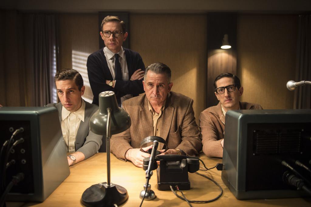 The Eichmann Show -  Roy (DYLAN EDWARDS), Milton (MARTIN FREEMAN), Leo (ANTHONY LAPAGLIA), Ron (BEN ADDIS)