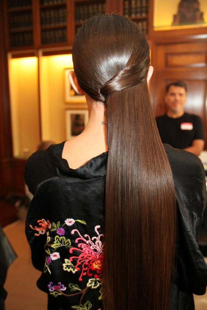 Styling capelli lisci - crediti foto Moroccanoil