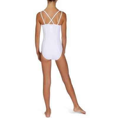 Body danza classica bambina Sylvia bianco - Domyos