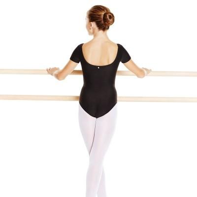 Body manica corta bambina danza classica nero - Domyos