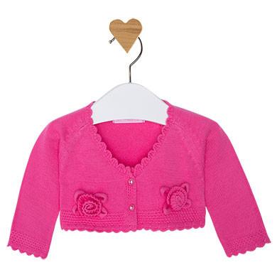 Cardigan corto in tricot a fiori - Mayoral