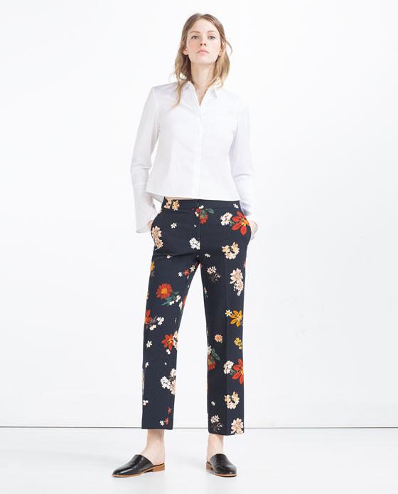 Pantalono ampi cropped, Zara