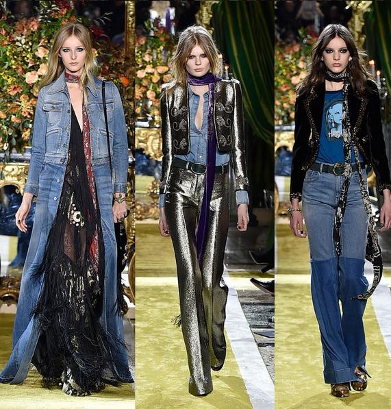 Roberto Cavalli jeans a vita alta e a zampa