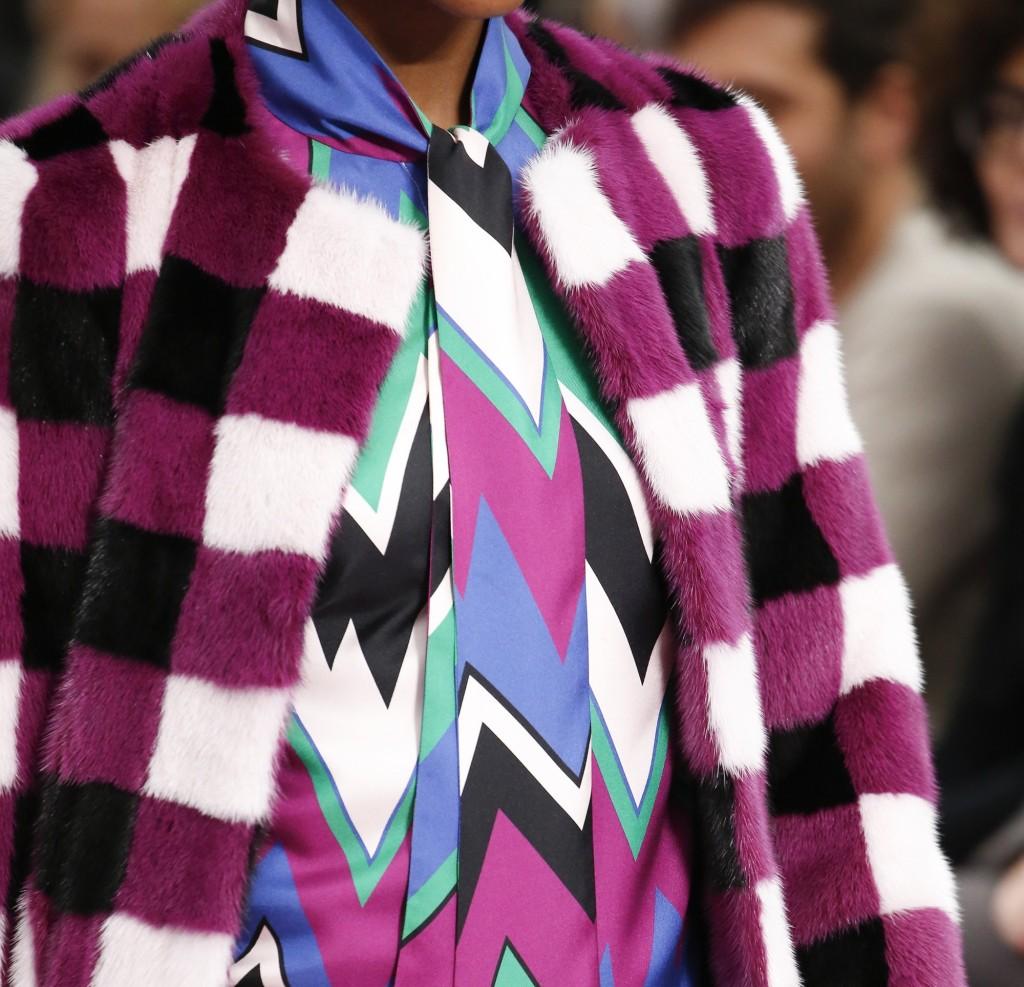 Salvatore Ferragamo pelliccia multicolor a quadri