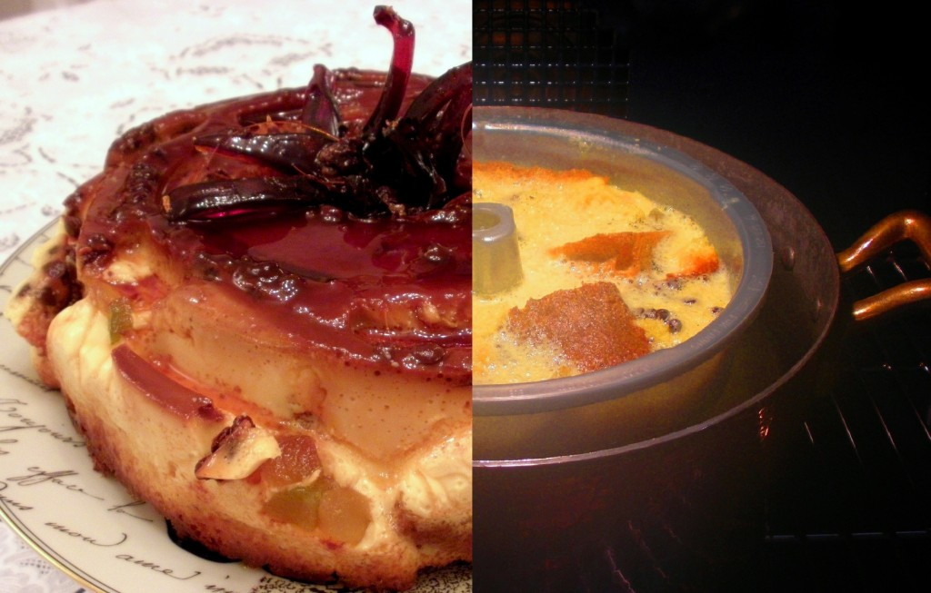Il budino diplomatico: pandoro veronese affogato nel crème caramel.