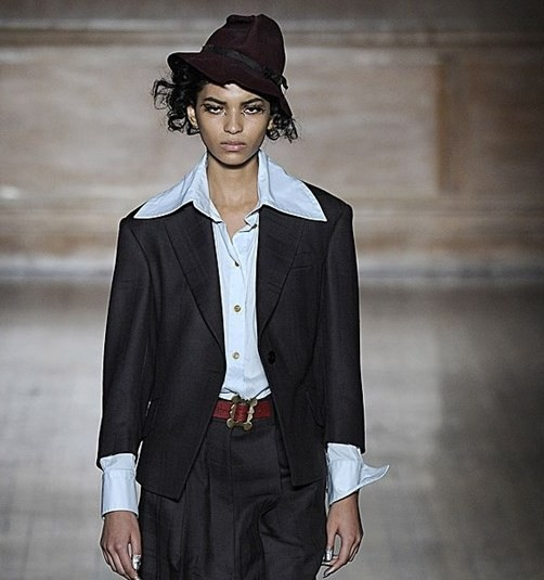 Vivienne Westwood outfit androgino