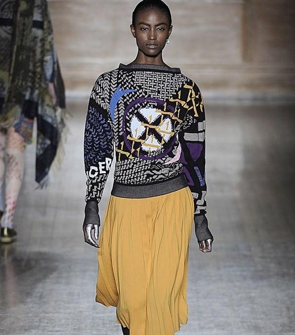 Vivienne Westwood gonna plissettata gialla