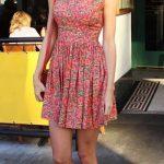 Le fantasie floreale sono tra le preferite di Taylor Swift che sfoggia spesso nei suoi abiti multicolor