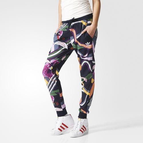 Adidas Floral Burts Cuffed track pants con fantasia floreale anni '70.