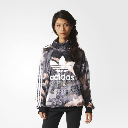 Adidas Originals by Rita Ora hoodie con maxi logo frontale.
