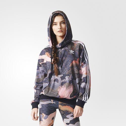Adidas Originals by Rita Ora hoodie allover print di ispirazione jap.