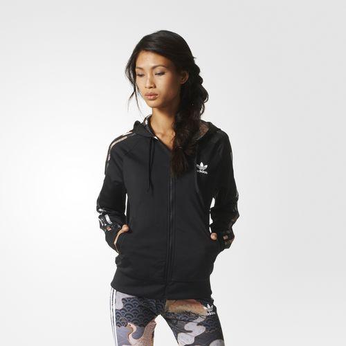 Adidas Originals by Rita track jacket nera con interni con stampa jap.