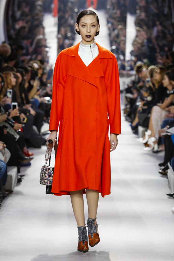 Colori accesi e linee morbide aggiornano la collezione Dior FW 2016-2017. Photo credits: dior.com