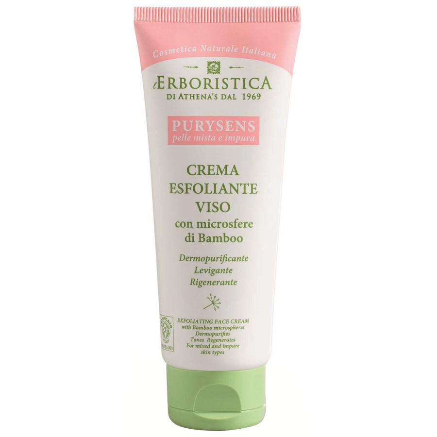 Erboristica Purysens Crema Esfoliante Viso Con Miscro Sfere Di Bamboo